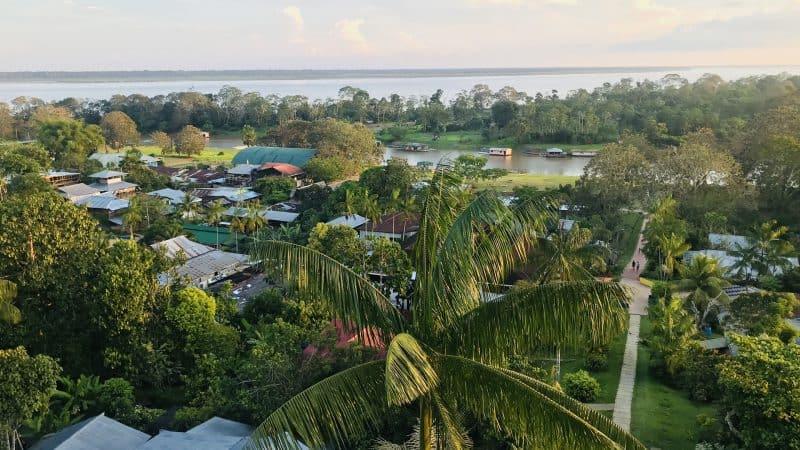 Amazzonia Puerto Narino dall'alto