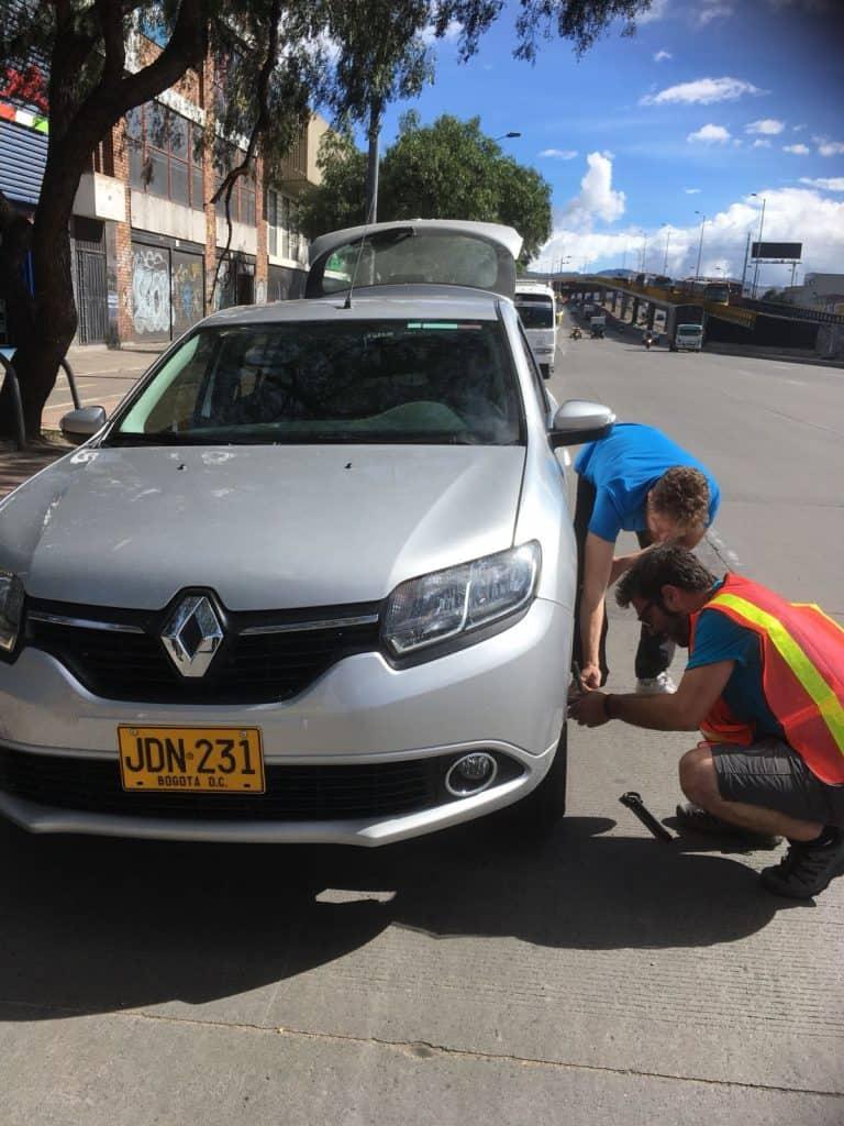 Cambio gomme in Bogotà