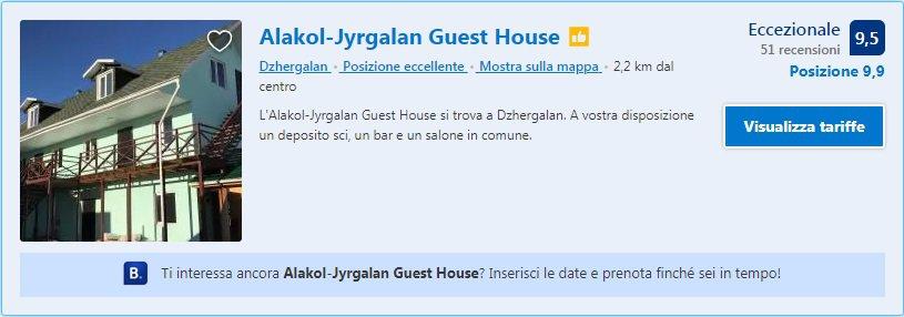 Jyrgalan Guesthouse