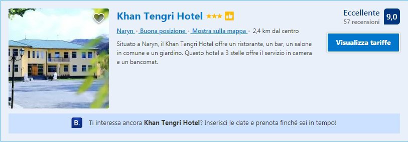 Khan Tengri Hotel Naryn